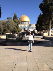 Ed Hale at the Dome of the Rock Israel