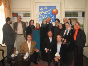 Ed Hale at American Peace Delegation to Iran with President Khatami