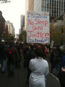 Ed Hale and Princess Little Tree Occupy Seattle, WA